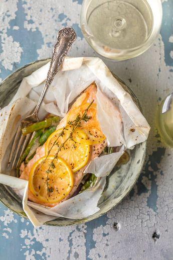 Lemon Butter Salmon in Parchment