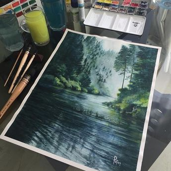 Watercolorist: @adempotas #waterblog #акварель #aquarelle #painting #drawing #art #artist #artwork #painting #illustration #watercolor #aquarela