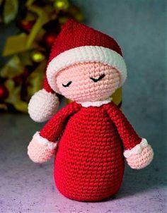 Bebê Noel de Amigurumi