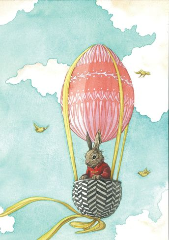 The Radio Times commissioned Daniela to work her magic and create a beautiful Easter themed cover for their Easter time publication. We love Daniela's charming little rabbit character, floating in an Easter Egg shaped hot air balloon.