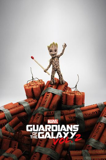 Guardians Of The Galaxy Vol. 2 - Groot Dynamite Plakat, Poster | Kjøp hos Europosters.no