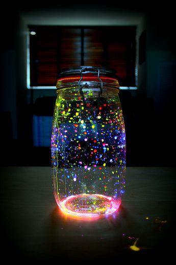 """""""Fireflies In A Jar"""" Lantern"""