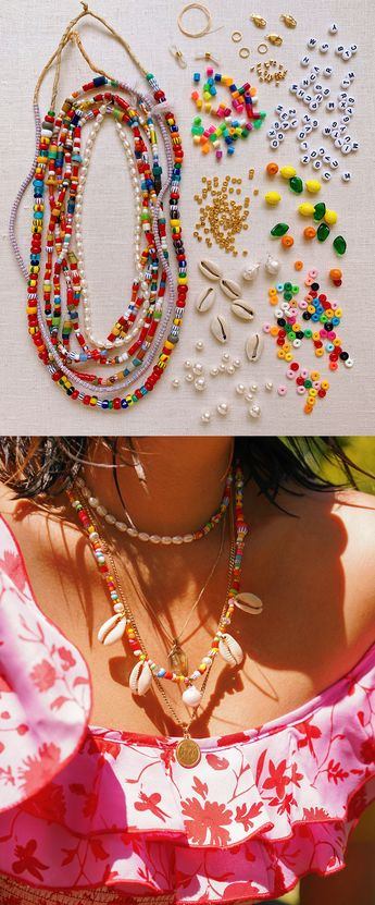 DIY Beaded Summer Necklaces