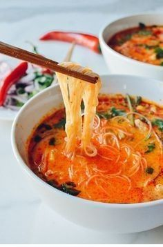 15-Minute Coconut Curry Noodle Soup