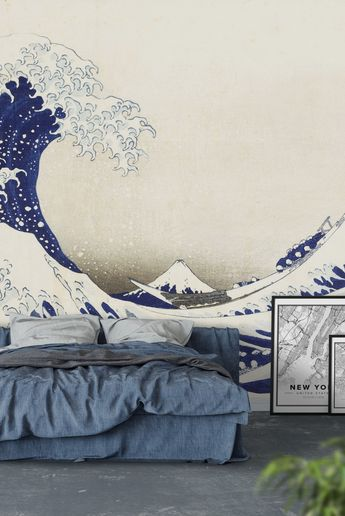 The great wave Wall Mural / Wallpaper Art
