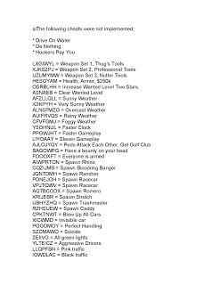gta 5 cheats for pc pdf