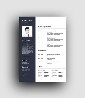 PSD Classic Professional Resume Template - Graphic Templates