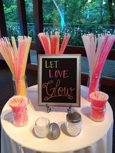 11x14 Let Love Glow Wedding Sign