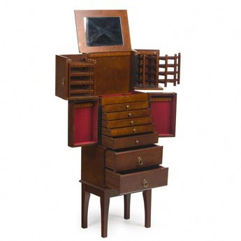 Deluxe Jewelry Armoire - Jewelry Armoires at Jewelry Armoire #blackjewelryarmoirebedrooms