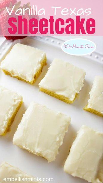 Vanilla Texas Sheetcake
