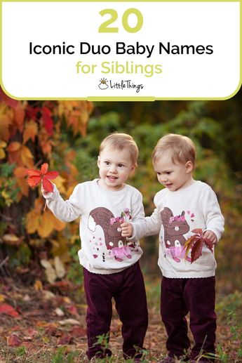 20 Iconic Duo Baby Names for Siblings: Good things come in pairs and the same can be said for names. Here are duo #babynames for siblings who are bound to be as close as their namesakes.