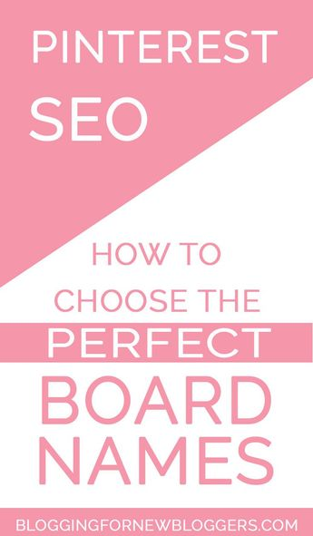 Pinterest SEO: using creative Pinterest board names won't help your Pinterest marketing. What you need to increase blog traffic is to create SEO friendly board names. Learn here how to choose the best Pinterest board names. #PinterestSEO #blogtraffic