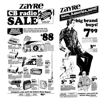 Zayre CB Radio Sale - June 1976