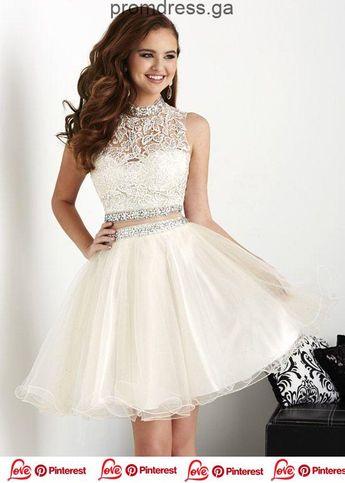 promdress, 2019, Graduation Dress Models Cream Kurzer ärmelloser zweiteiliger Ballerina ... ,  #armelloser #cream #dress #graduation #kurzer #models #zweiteiliger