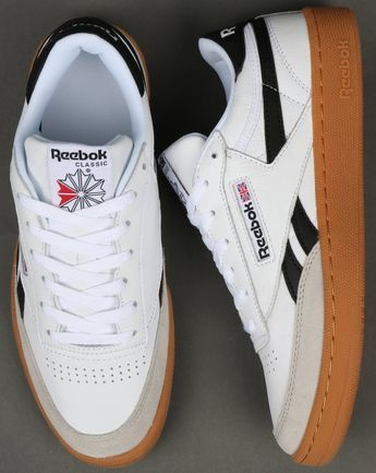 best service ddc49 71b92 Reebok Revenge Plus Gum Trainers White Snowy Grey Black