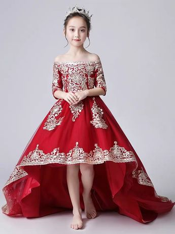 Flower Girl's Dress Girl's Princess Dress Costume Dress Wedding Dress