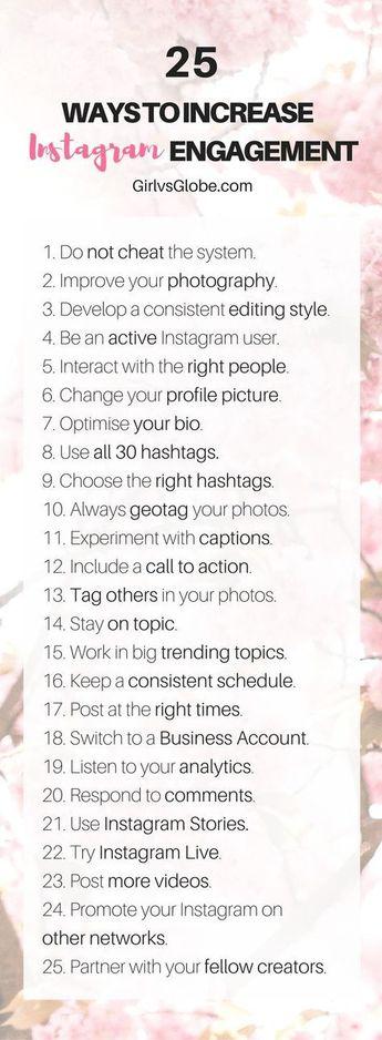25 Ways To Increase Instagram Engagement | Girl vs Globe