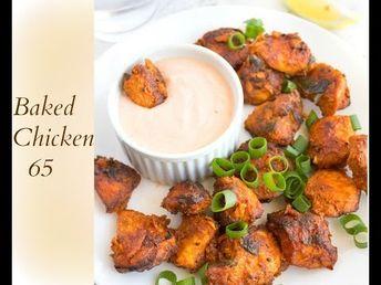 Baked Chicken 65 (With Video) | Nish Kitchen