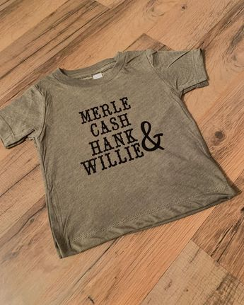 Merle Cash Hank & Willie 🎼 • • Headed out to the cutest little girl I know 💕 #legends #merlehaggard #johnnycash #hankwilliams #willienelson #countrymusic #toddleroutfits #teachthemyoung #teachthemright #heatpressprinting #vinyldecals #mccardledesigns