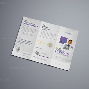 Vega Professional Corporate Tri-Fold Brochure Template 001208 - Template Catalog