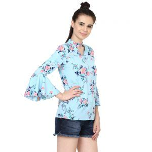 1a10226eb0609 Printed Cold Shoulder Top