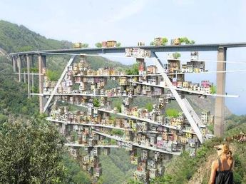 Parasitic City Takes Over Decommissioned Italian Highway...