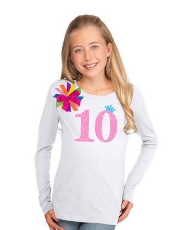 10th Birthday Shirt Tween Girl Outfit Glow Party By BubbleGumDivas