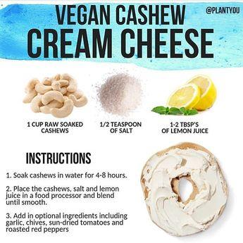 "Vegandishbook on Instagram: ""Vegan cream cheese. • • • Credit to@plantyou • • • #VeganCommunity #VeganDishBook  #vegan #vegans #govegan #vegansofig #vegansofinstagram…"""