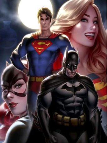 Featuring the Lab's Facebook 3D ~ Batman, Batwoman, Superman & Superwoman. NOTE: I am not the original Artist ~ I only created this Facebook 3D. This post is intended for entertainment purposes only and not for profit of any kind. 💥😁🥃🤖🔥 #boomlab3d --- (Original Artist ~ Warren Louw)
