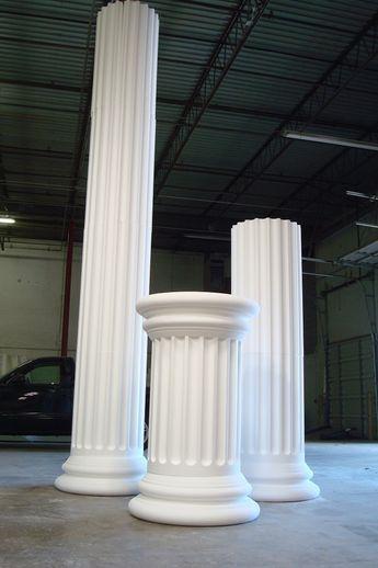 Foam columns for a TV show set