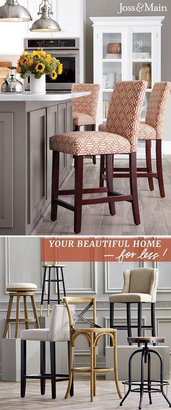 Superb Transitional Bar Stools And Counter Height Kitchen Stools Creativecarmelina Interior Chair Design Creativecarmelinacom
