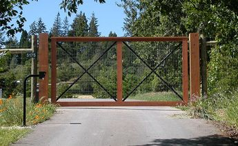 agricultural fence gate wood wire mesh - Google Search