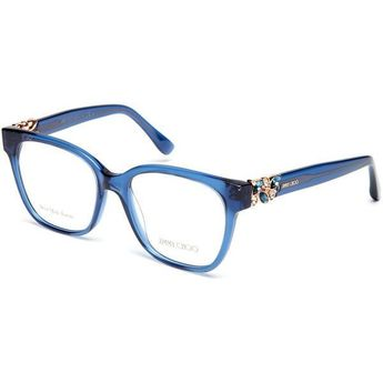 28a78b26f7d Jimmy Choo Blue JC119 Square Optical Frames ( 100) ❤ liked on Polyvore  featuring accessories