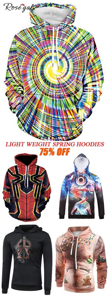 Cool Hoodies with 3D Abstract Pattern #Rosegal
