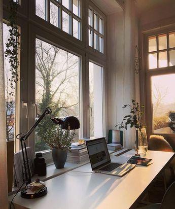 Idées de design pour bureaux à domicile - Que vous ayez une salle de bureau à domicile dédiée ... #bureau #bureaux #design #domicile #idees #salle