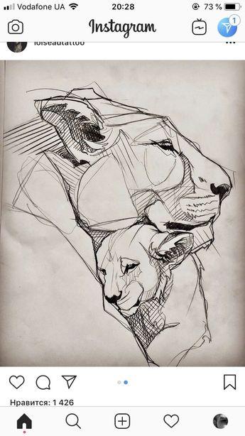 O amor do leão ... desenhe este pedaço, faça você mesmo ... - # Lion39s #Love #piece #Esboço #tekenen