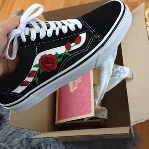 Vans Old Skool Custom -  Rose Patch  - EUR 34.5 - 47 Unisex - 290177f3d