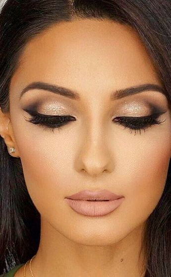 Bildresultat för wedding makeup for brunettes with brown eyes