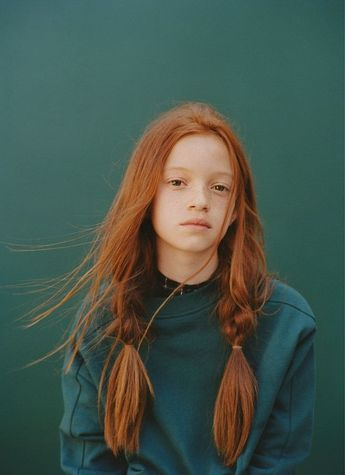 Red hair and braids and my favourite colour green! #kids #fashion #photography #portrait