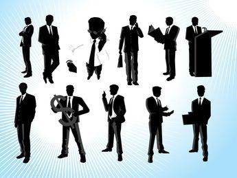 Modern Businessman Vectors