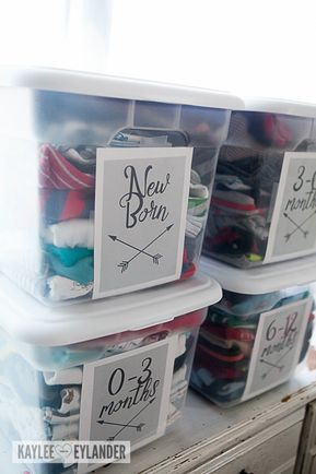 Baby Clothes Organization