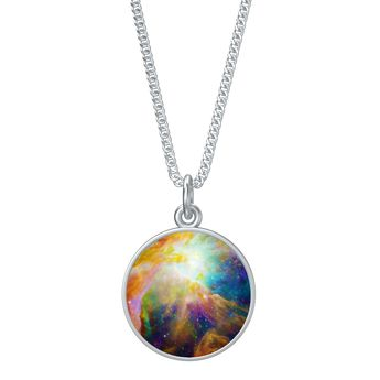 Orion Nebula Coin Charm Pendant with 30in Necklace