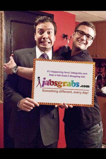 #Fallon and #JT love @jabsgrabs and its FREE SHIPPING !!  jabsgrabs.com
