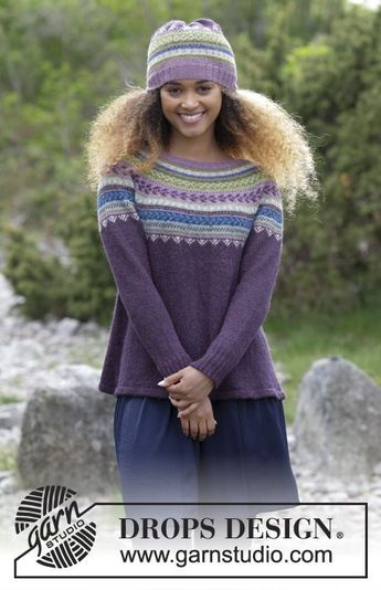 15dded86d3428 Blueberry Fizz - The set consists of knitted jumper with round yoke