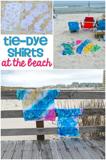 How to Tie-Dye with Sand at the Beach