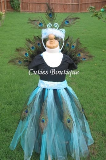 Peacock Princess Costume All Sizes 6 9 12 24 by CutiesBoutique, $109.00