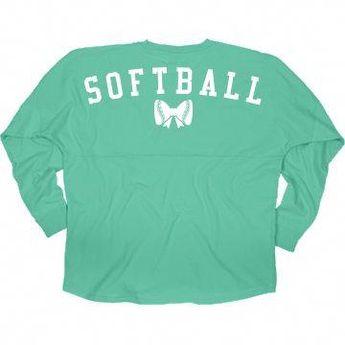Softball Girl Bow Jersey
