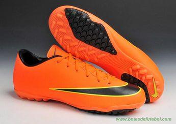 pretty nice 4f028 02f44 lojas de chuteiras baratas Nike Mercurial Victory X Laranja Preto TF  Masculino