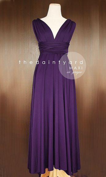 38a3cf1ab6b TDY Grape Maxi Bridesmaid Dress Prom Dress Wedding Dress Infinity Dress  Convertible Dress Cocktail Evening Gown