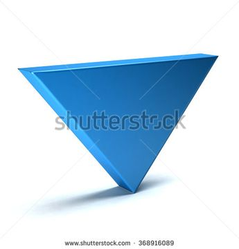 Index down - 3D arrow icon  - stock photo